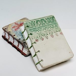 Ceramic booklets - coptic stitch