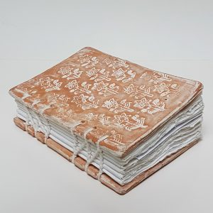 Ceramic Book with handmade pages