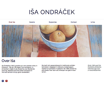 Webdesign for Iša Ondráček