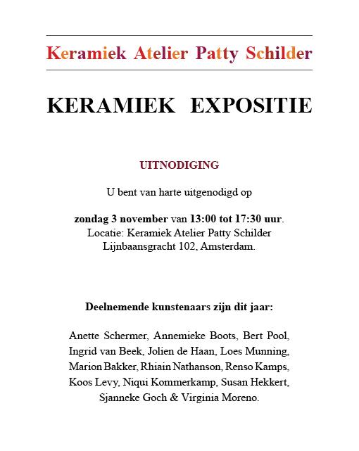 Invitation for the ceramic exhibition