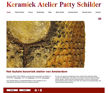 Webdesign for Patty Schilder