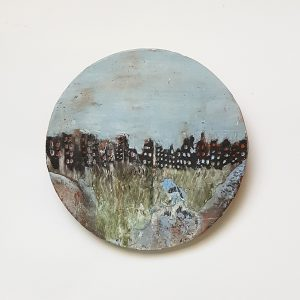 Ceramic Painting: City in Ruins