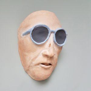 Mask of businessman