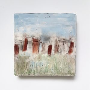 Urban Edge, ceramic painting.