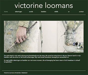 Webdesign for Victorine Loomans