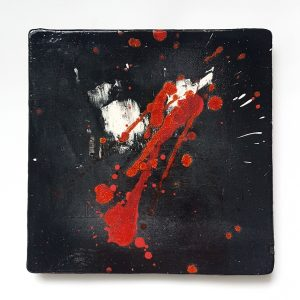 Ceramic painting We All Bleed Red II
