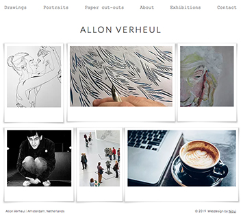 Webdesign for Allon Verheul