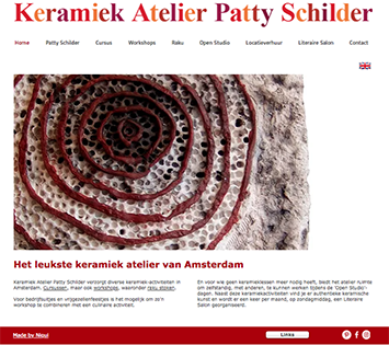 Webdesign for Keramiek Atelier Patty Schilder