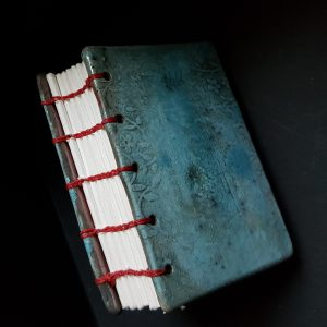 Ceramic book, raku fired